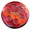 Glass Passover Plate Brown