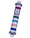 Curved Mezuzah with Stripes 7cm