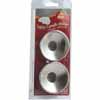 2-Pk. Safety Candle Holder Silver