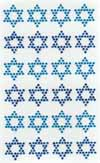 Star of David Diamante Stickers