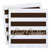 Shabbat Napkins Brown