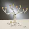 Large Tree of Life Menorah - 2 Tone, Gift Boxed