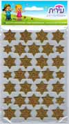 Puffy Star of David Stickers
