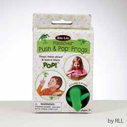 Passover Push & Pop Frogs