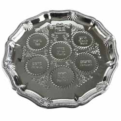 Nickel Seder Tray